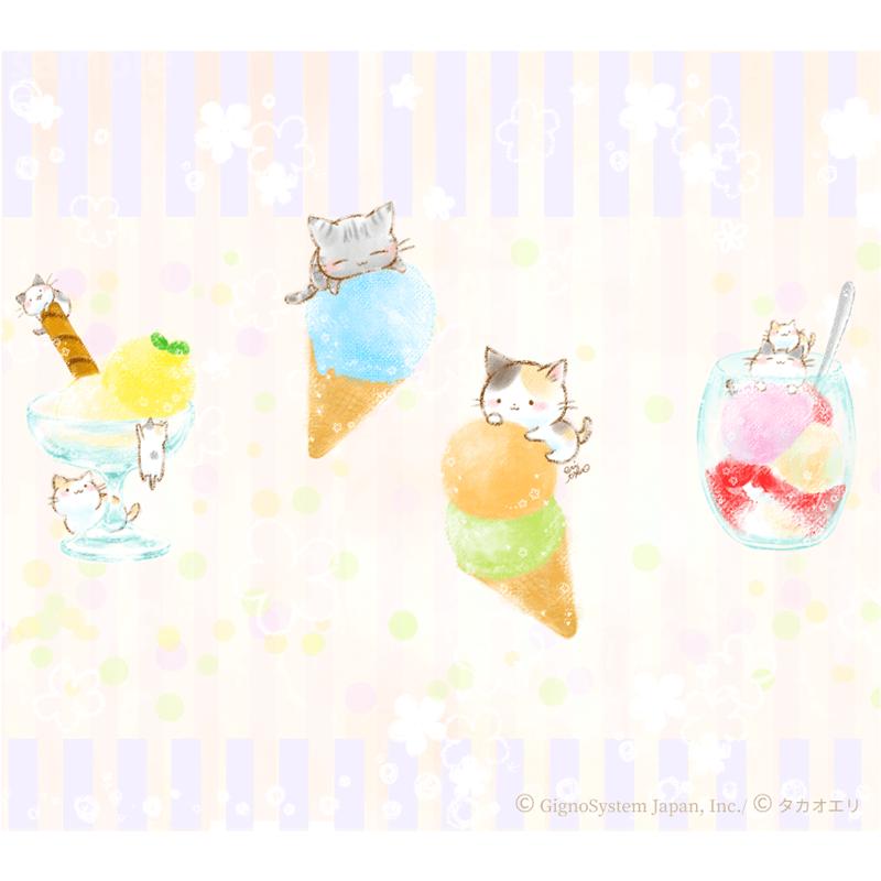 アイスクリーム 猫 ねこ 夏